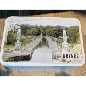 Boîte à sucre souvenir du Pont Canal de Briare
